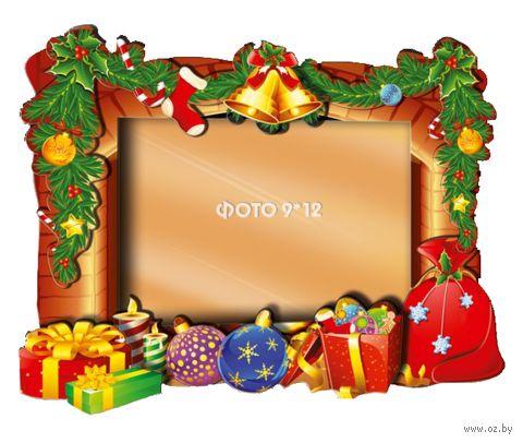 "Объемная аппликация ""Рамка. Новогодние подарки"" — фото, картинка"