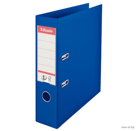 Папка-регистратор А4 с арочным механизмом, 75 мм (ПВХ, синяя)