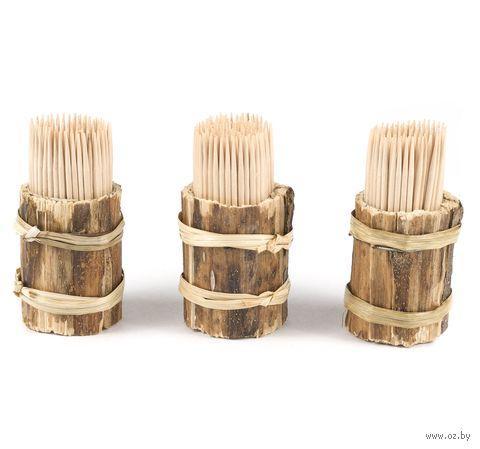 Набор зубочисток деревянных (150 шт) в деревянных подставках (3 шт)