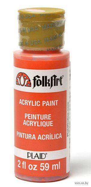 "Краска акриловая ""FolkArt. Acrylic Paint"" (оранжевый мак, 59 мл; арт. PLD-00508)"