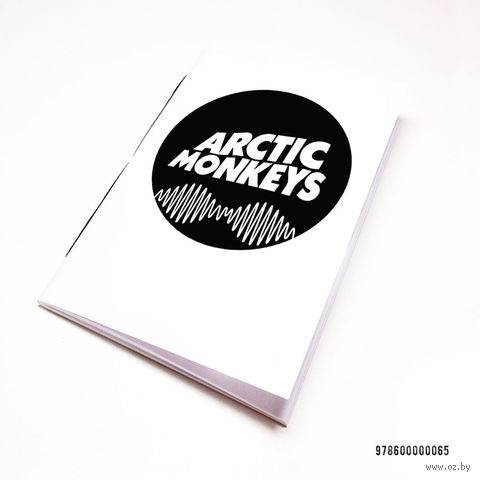 "Блокнот белый ""Arctic Monkeys"" А7 (арт. 065)"