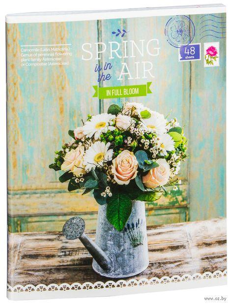 """Тетрадь полуобщая в клетку """"Spring in the Air"""" (48 листов; в ассортименте) — фото, картинка"""