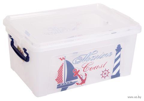 Ящик для хранения с крышкой (9 л; арт. 30264) — фото, картинка