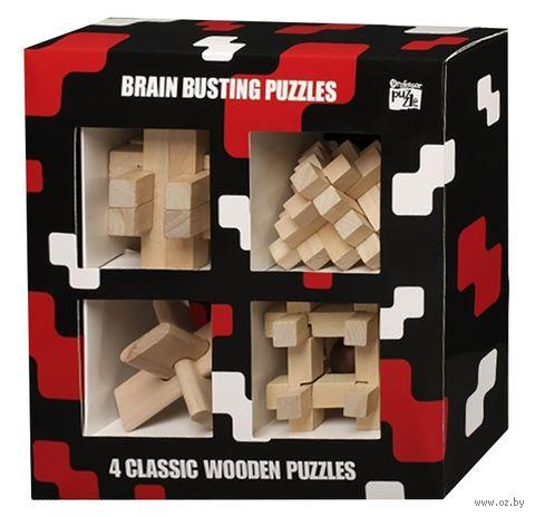 """Набор из 4 головоломок """"Зарядка для мозга"""" — фото, картинка"""
