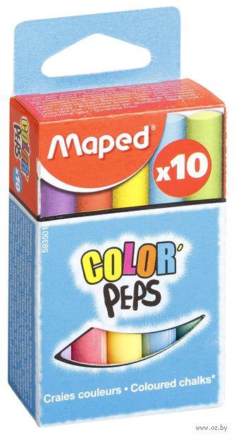 """Мел круглый цветной """"Color Peps"""" (10 штук)"""