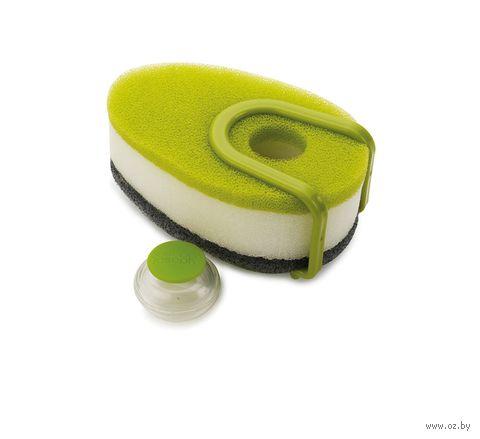"""Набор губок с капсулой для моющего средства """"Soapy Sponge"""" (5 предметов; зеленый)"""