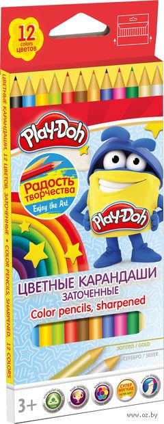 Цветные карандаши трехгранные (12 цветов)