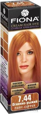 """Крем-краска для волос """"Fiona"""" (тон: 7.44, огненно-рыжий)"""