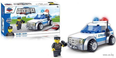 """Конструктор """"Полицейский автомобиль"""" (80 деталей) — фото, картинка"""