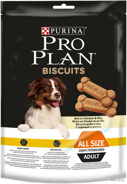 "Печенье для собак ""Biscuits Light"" (400 г; курица и рис) — фото, картинка"