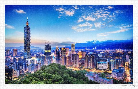 "Пазл ""Закат Тайбэй. Тайвань"" (1000 элементов) — фото, картинка"