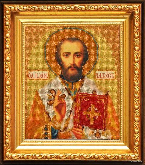 """Вышивка бисером """"Св. Иоан Златоуст"""" (120х145 мм) — фото, картинка"""