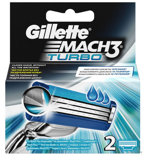 Кассета для станка Gillette Mach3 Turbo (2 шт)