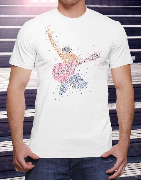 """Футболка мужская """"Гитарист"""" (размер 56; арт. 14) — фото, картинка"""