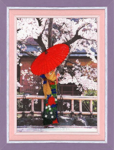 """Вышивка бисером """"Пышное цветение сакуры"""" (400х266 мм) — фото, картинка"""