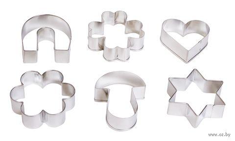 """Набор форм для вырезания теста металлических """"Delicia"""" (6 шт.) — фото, картинка"""