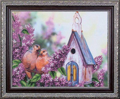 "Вышивка бисером ""Дикие голуби"" (275х250 мм) — фото, картинка"