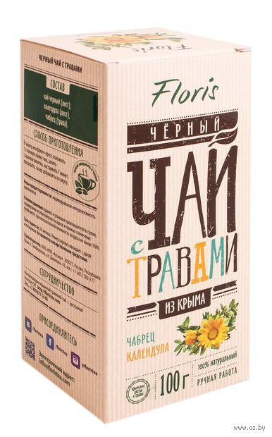 """Чай черный листовой """"Floris. С чабрецом и календулой"""" (100 г) — фото, картинка"""