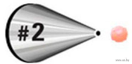 Насадка для кондитерского мешка металлическая №2 (арт. WLT-418-2)