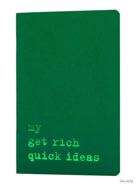 "Записная книжка Молескин ""Volant. My Golden Rules for Success"" в линейку (А6; темно-зеленая)"