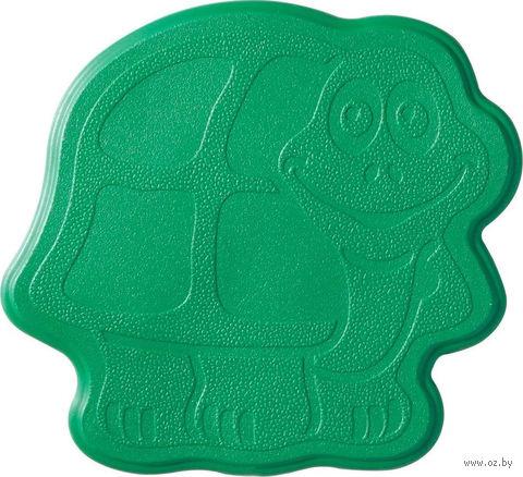 """Коврик для ванной резиновый """"Черепашка"""" (6 шт.; 13х11 см; зеленый) — фото, картинка"""