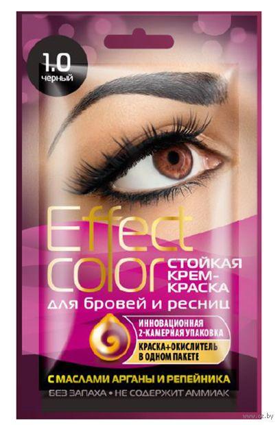 """Крем-краска для бровей и ресниц """"Effect color"""" тон: 1.0, черный — фото, картинка"""