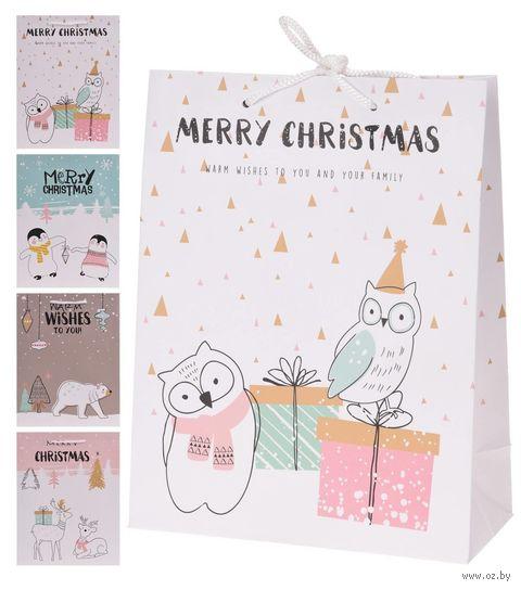 """Пакет бумажный подарочный """"Праздничный"""" (18х23х8 см; арт. APF464340) — фото, картинка"""