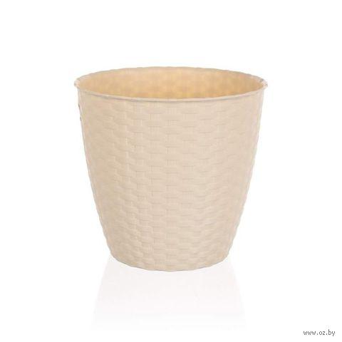 Кашпо для цветов пластмассовое (29х26,5 см; кремовое)