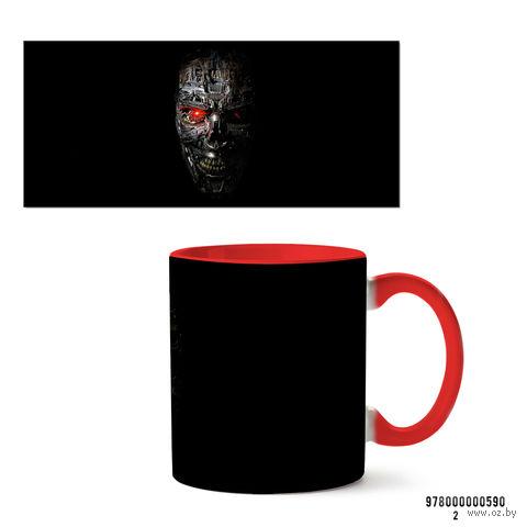 "Кружка ""Терминатор"" (красная; арт. 590) — фото, картинка"
