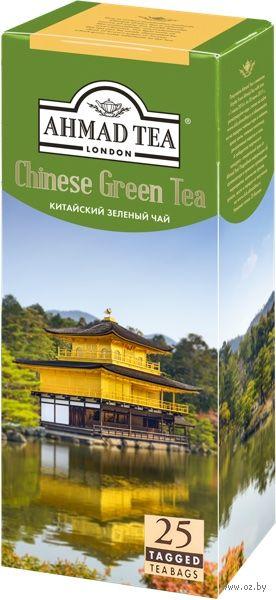 """Чай зеленый """"Ahmad Tea. Китайский"""" (25 пакетиков) — фото, картинка"""
