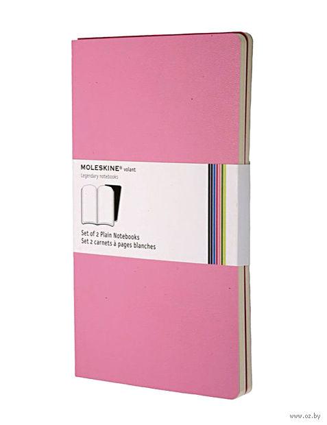 """Записная книжка Молескин """"Volant"""" нелинованная (большая; мягкая розовая обложка; 2 штуки)"""