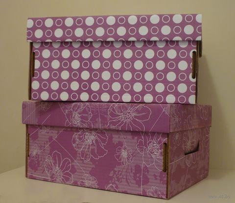 Набор коробок маленьких 2 шт. (фиолетовый)