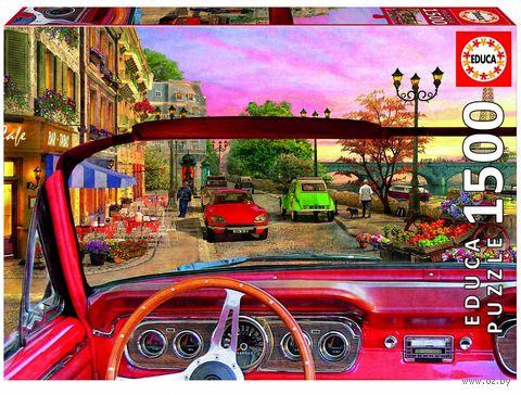 """Пазл """"Париж в автомобиле"""" (1500 элементов) — фото, картинка"""
