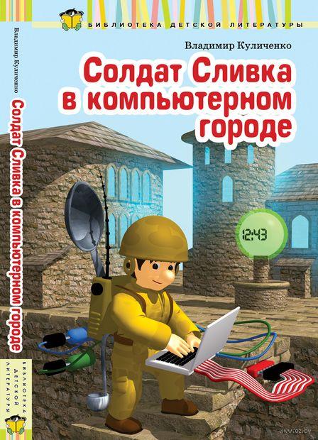 Солдат Сливка в компьютерном городе — фото, картинка