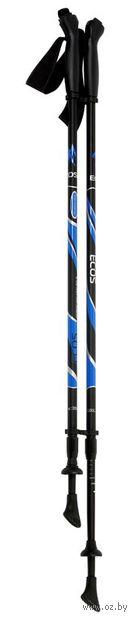 Палки для скандинавской ходьбы двухсекционные AQD-B004-6061 (85-135 см; чёрные) — фото, картинка