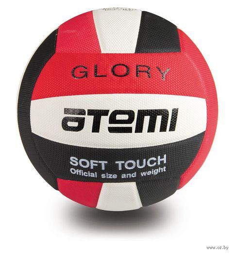 """Мяч волейбольный Atemi """"Glory"""" №5 (красно-бело-чёрный) — фото, картинка"""