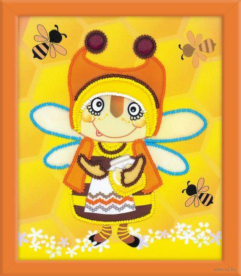 "Вышивка бисером ""Бабушка Пчела"" (150х180 мм) — фото, картинка"