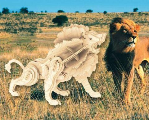 """Сборная деревянная модель """"Маленький лев"""" — фото, картинка"""