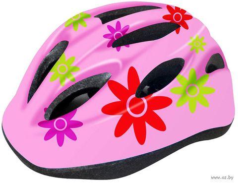 """Шлем велосипедный детский """"WT-021"""" (чёрно-розовый) — фото, картинка"""