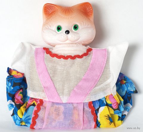"Мягкая игрушка на руку ""Кошка"" (25 см) — фото, картинка"