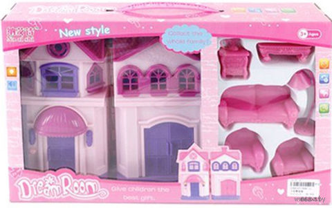 Дом для куклы с набором мебели (со звуковыми и световыми эффектами; арт. 668-11)
