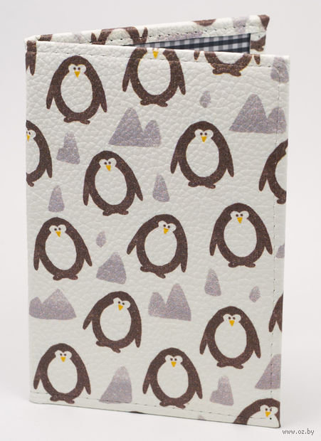 "Обложка на паспорт ""Пингвины"" — фото, картинка"
