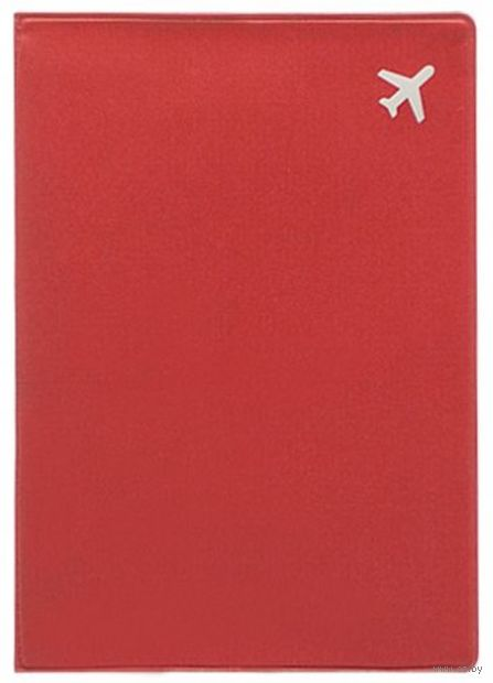 "Обложка на паспорт ""Самолет"" (красная) — фото, картинка"