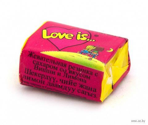 """Жевательная резинка """"Love Is. Вишня-лимон"""" (4,2 г) — фото, картинка"""