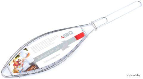 Решетка для гриля металлическая раскладная в форме рыбы (42*9 см)