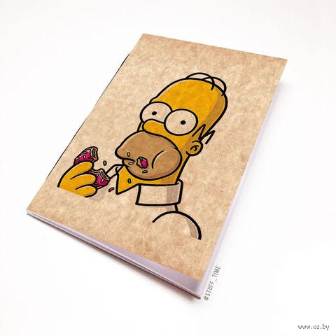 """Блокнот крафт """"Гомер Симпсон"""" (А7; арт. 002) — фото, картинка"""