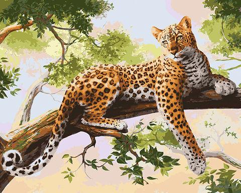 """Картина по номерам """"Леопард"""" (400х500 мм) — фото, картинка"""