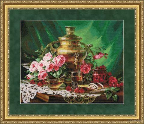 """Вышивка крестом """"Чай с мёдом"""" (355х445 мм) — фото, картинка"""