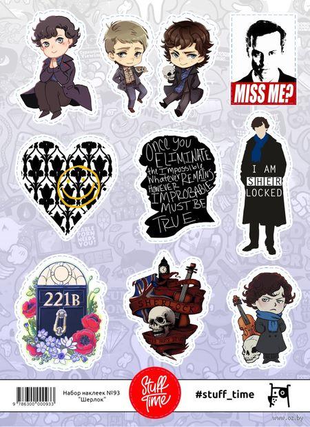 """Набор бумажных наклеек №93 """"Шерлок"""" — фото, картинка"""