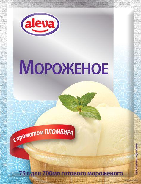 """Мороженое сухое """"Aleva. С ароматом пломбира"""" (75 г) — фото, картинка"""